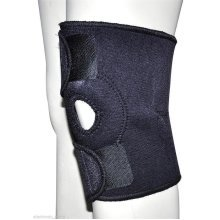 Neoprene Patella Black Elastic Knee Brace Fastener Support Guard Gym Sport New