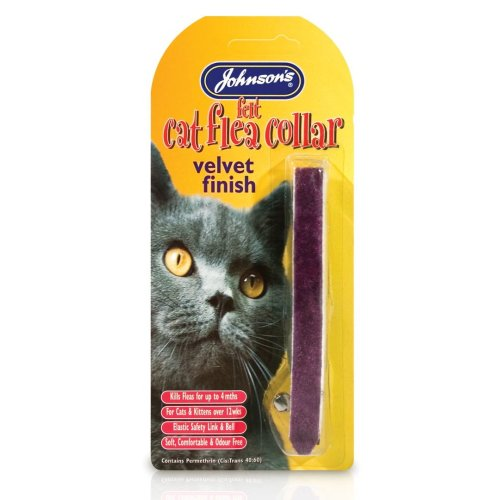 Jvp Cat Flea Collar Felt Mixed Colours (Pack of 12)