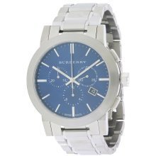 Burberry Check Stamped Chronograph Mens Watch BU9363