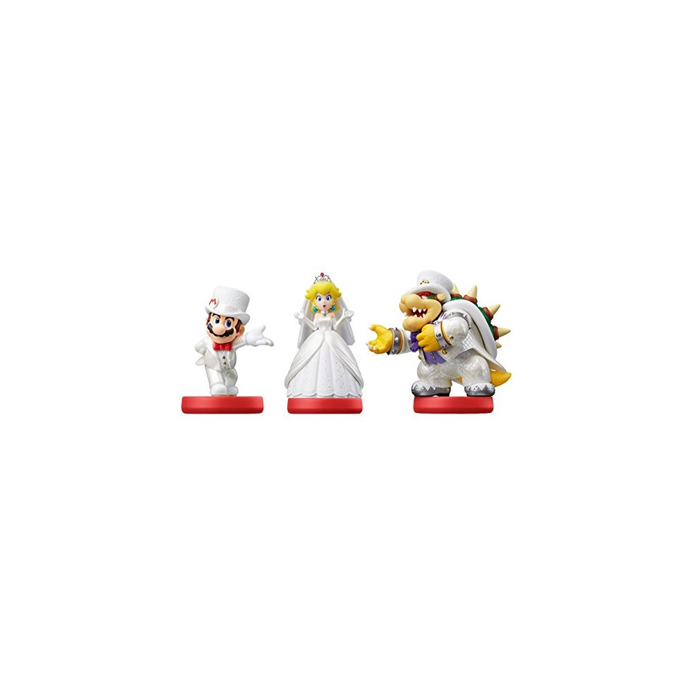 Triple Pack Mario Peach And Bowser Wedding Outfits Amiibo Super Mario Odyssey Nintendo Wii U Nintendo 3ds Nintendo Switch
