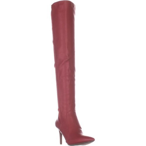 I35 Izettap Over The Knee Boots, Red Lava, 7.5 UK