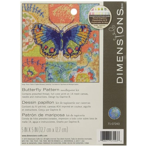 * Dimensions Needlepoint Kit -Buttergly Pattern