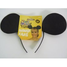 Ladies Cartoon Mouse Ears -  mouse ears headband fancy dress smiffys animal accessory new adult