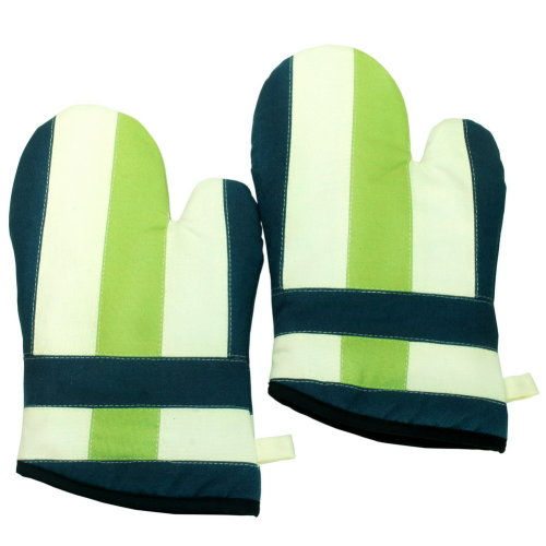 [Water Melons] Durable Heat Resistant Patchwork Oven Gloves/Canvas Mitts 2-Pack