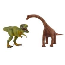 deAO Dinosaur Figures With Realistic Design SET of 2: Diplodocus + T-Rex