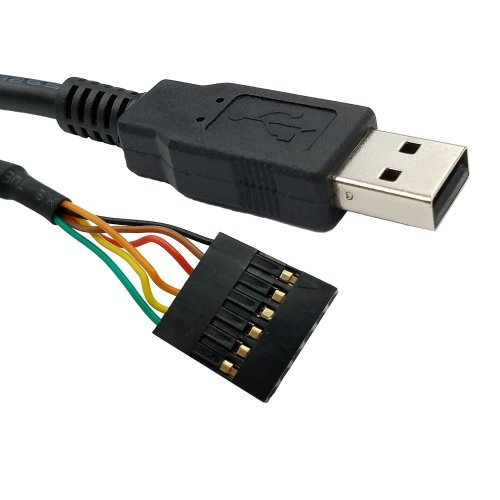 USB to TTL 3.3V Serial UART Converter Cable with FTDI Chip Terminated by 6 Way Header, Works with Galileo Gen2 Boards/BeagleBone Black/Minnowboard...