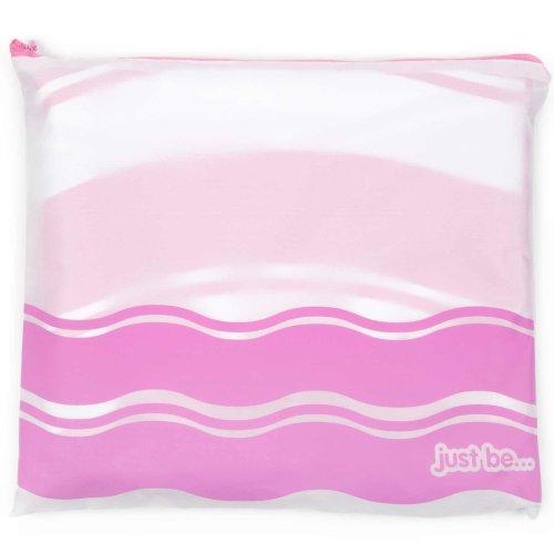 just be... Microfibre Wave Beach Towel - Pink XX Large 200 x 90cm