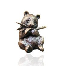 Bronze Panda Animal Figure - Butler & Peach - 2062.