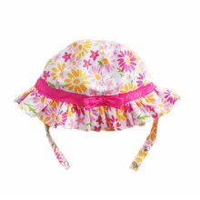 Summer Baby Girl Caps Cotton Sun Hat For 2-3 Years Baby Pink Floral