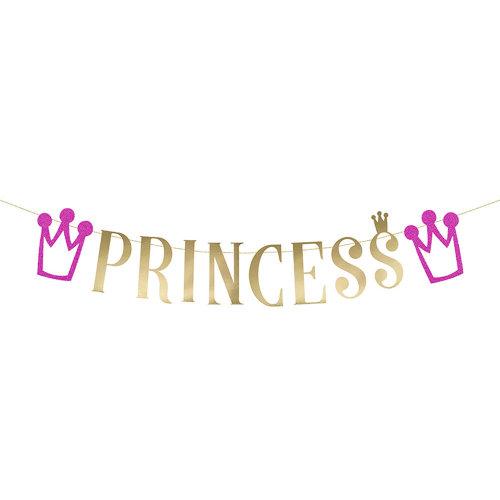 Pink Princess Bunting Banner 90cm long Princess Party Decoration