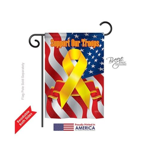 Breeze Decor 58059 Military Support Our Troops 2-Sided Impression Garden Flag - 13 x 18.5 in.