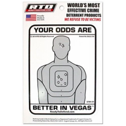 Cogent Group 210572 Wht Your Odds Sec Decal STW-5Y - Pack of 12