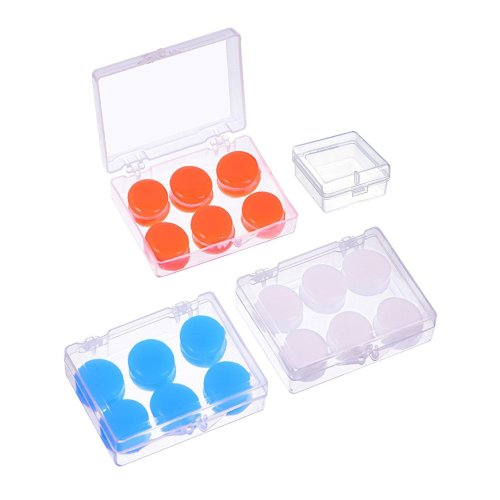9 Pairs Soft Protective Ear Plugs Silicone Putty Ear Plugs Moldable Earplugs Set for Sleeping, Swimming (Blue, White and Orange)