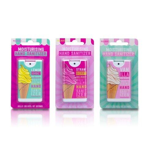 Moisturising Antibacterial Set Of 3 Hand Sanitizer Ice Cream