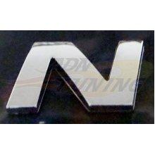 23 x 27mm Chrome Letter N Car Emblem - Effect Letters Numbers Symbols Az Self -  chrome effect letters numbers symbols az self adhesive car home etc
