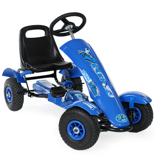 Go kart single seater blue