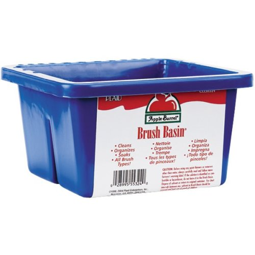 "Apple Barrel Brush Basin-8.5""X6.5""X3.5"""