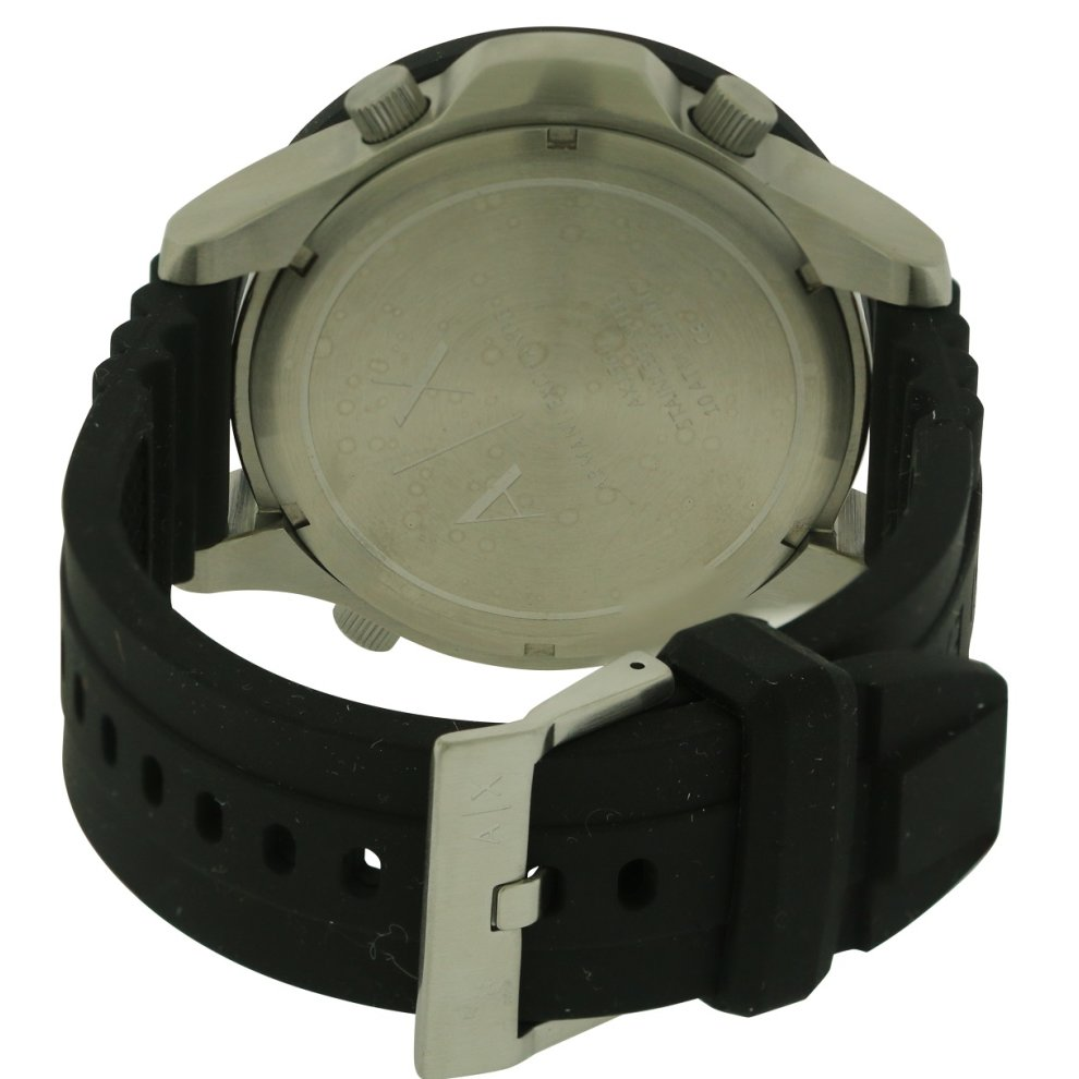 armani exchange active silicone digital mens ax1560