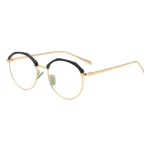 Personality Polygon Flat Glasses Retro Decorative Glasses Frames -Black