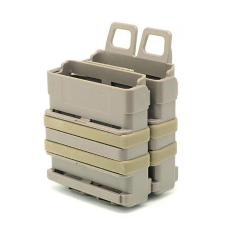 New FAST DOUBLE Magazine Holster Pouch Set MOLLE SYSTEM(DE),FMA Fastmag, 5.56mm
