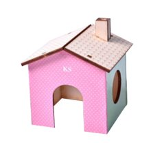 [B] Hamster Wooden Toy Hamsters DIY Habitat Pet Supplies for Small Animal