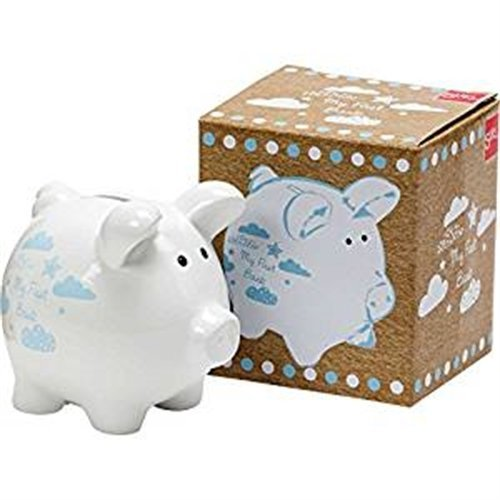 Blue Ceramic My First Piggy Bank -  my first piggy bank blue ceramic