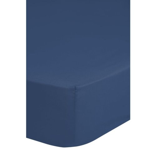 Emotion Non-iron Fitted Sheet 180x220 cm Blue 0220.24.47