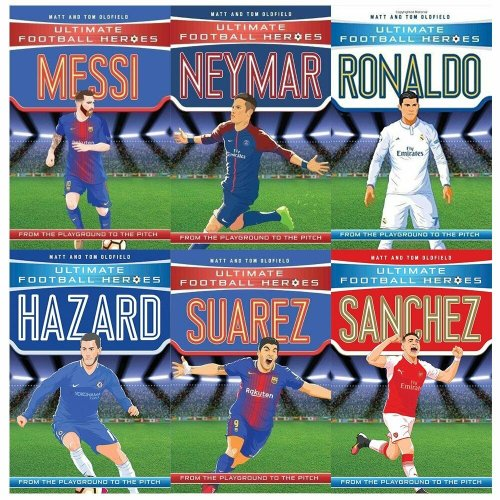 Ultimate Football Heroes Football Series 1 & 2,6 Books Collection Set