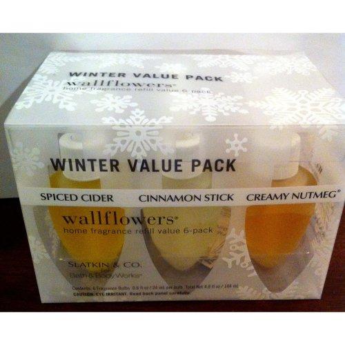 BATH & BODY WORKS SLATKIN & CO. WALLFLOWERS WINTER VALUE 6 PACK NIB