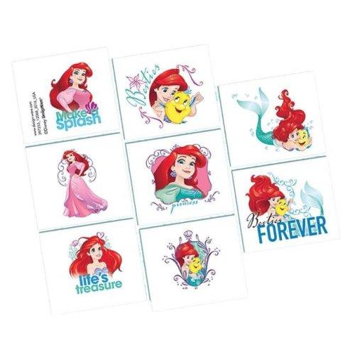 Amscan AM397253 2 x 1.75 in. Disney Ariel Tattoos