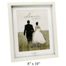 Amore Wedding Photo Frame With Crystal Rings Plain 8x10