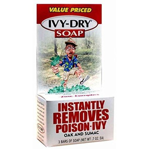 IVY DRY Bar Soap, 0.7 oz bars, 3 ea (Pack of 12)