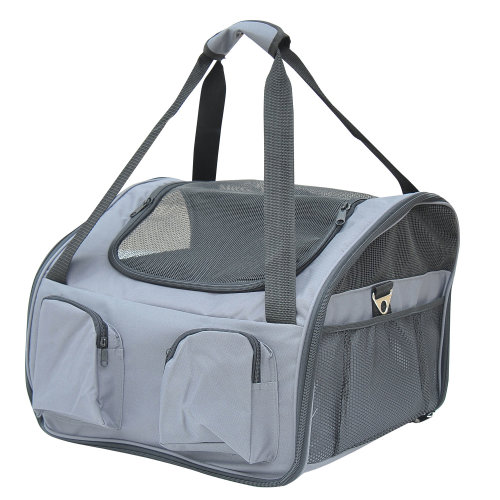 PawHut Folding Pet Bag Carrier Car Seat Dog Cat Safety Travel Shoulder Portable