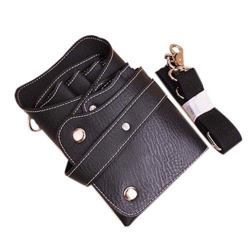 Hair Scissors Bag Hair Durable Comb Package Hair Stylist Pockets, Black