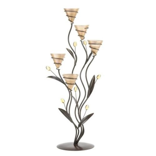 Home Locomotion  Large Golden Dawn Lily Candleholder