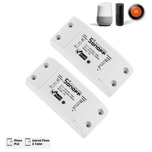 Sonoff Smart Remote Control Wireless Wifi Switch Module (2 Pack)