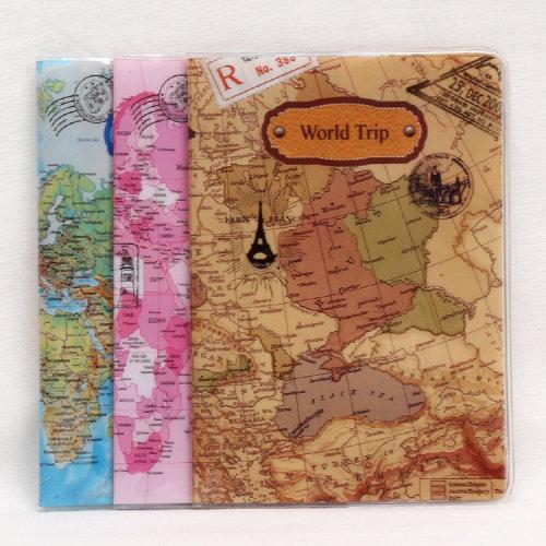 World Map Passport Cover