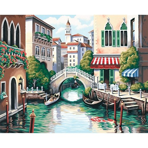 Dpw91303 - Paintsworks Paint by Numbers - Scenic Canal