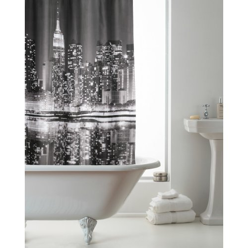 Country Club Hookless Shower Curtain, New York