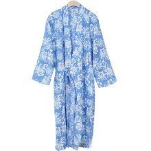 Blue Cherry Blossoms Cotton Pajamas Khan Steamed Clothing Loose Pajamas Yukata