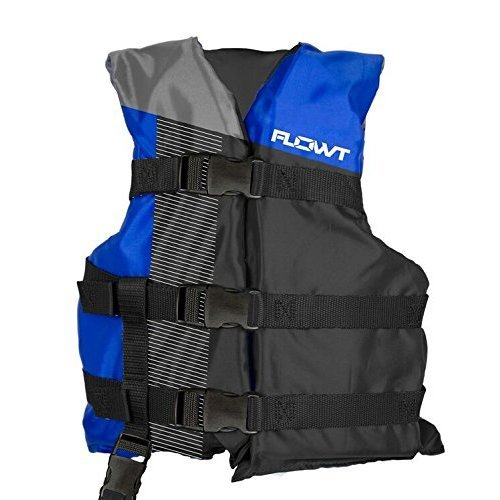 Flowt Multi Sport 40301 2 YTH Multi Sport Life Vest Type III PFD Blue Youth Fits 50 to 90 lbs