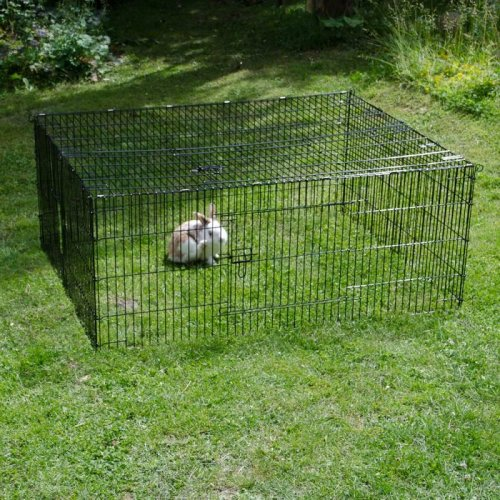 Square Shaped Rabbit Run Ideal for Guinea Pigs Chickens Poultry Garden Metal