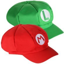 2pc Mario and Luigi Hats | Video Game Theme Caps