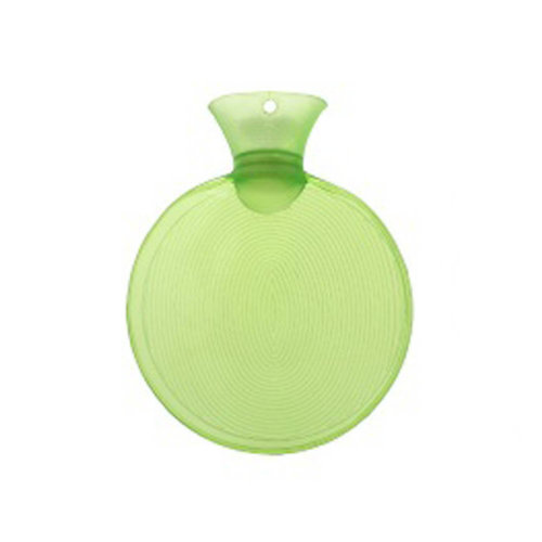 Warm Simple 0.75 L Hot Water Bottle Safe Water-filled, Hot Water Bottle (Round, Green)