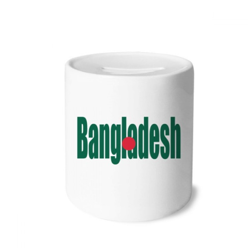 Bangladesh Country Flag Name Money Box Saving Banks Ceramic Coin Case Kids Adults