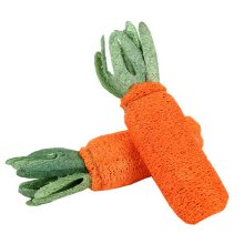 Set of 2 Pet Toys Toys For Small Dogs Teeth Cleaning Chew Toys [Carrot]