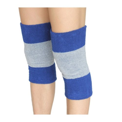 Athletics Warmer Knee Braces For Adult, Blue, (Pair)