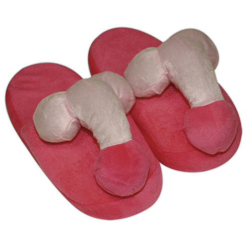 Pink-coloured penis slippers  Miscellaneous Fun Items - You2Toys