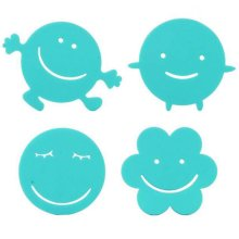 Set of 4 Small Lovely Smile Pot Holders Bowl Mats Insulation Mats Cup Mats