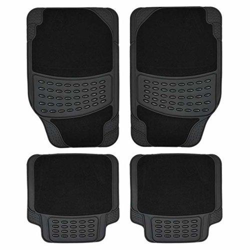 4pc Heavy Duty Non-Slip Car Mat Set | Rubber Car Mats